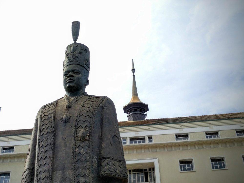 Statue of the current Kabaka of Buganda - Muwenda Mutebi II