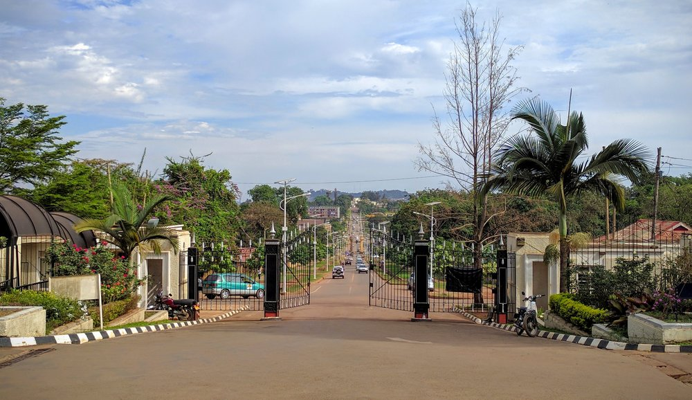 Road to the main gate of Mengo Palace