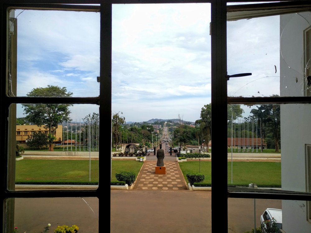 Looking towards the palace