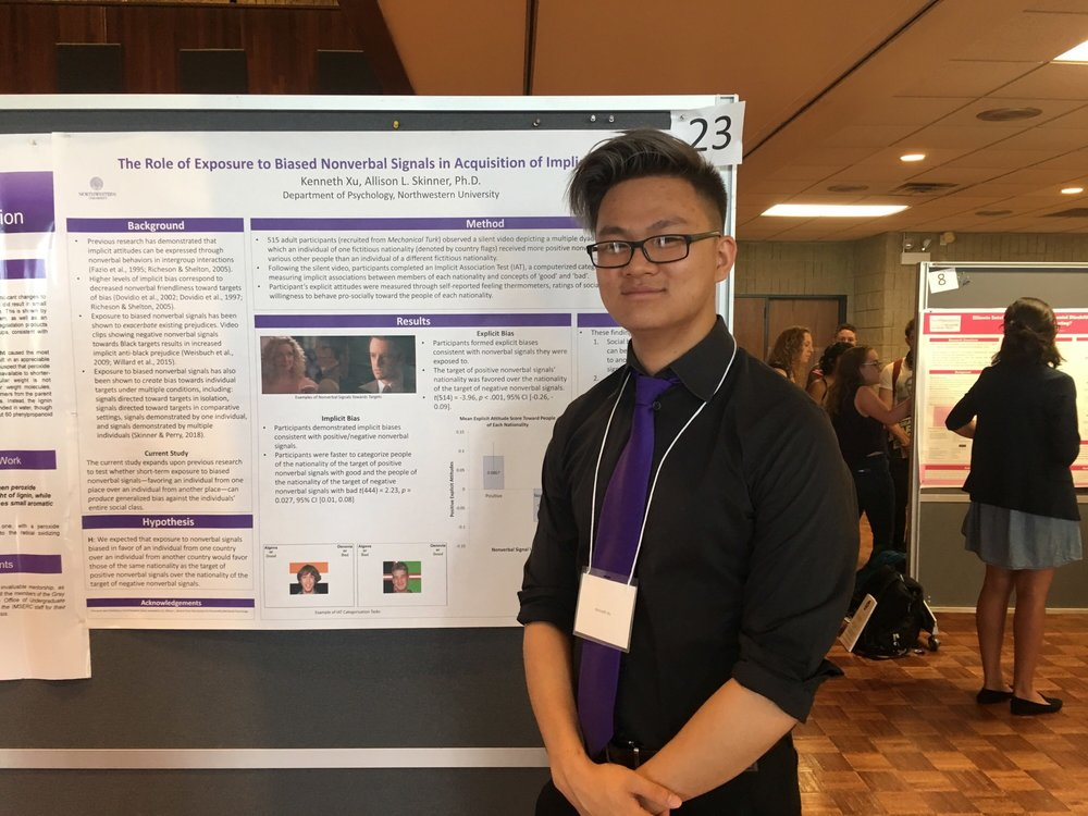 Ken Xu presenting his research at the Undergraduate Research and Arts Expo 2018