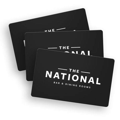 The National Bar Dining Rooms Gift Card Giftcard 3x Ntl