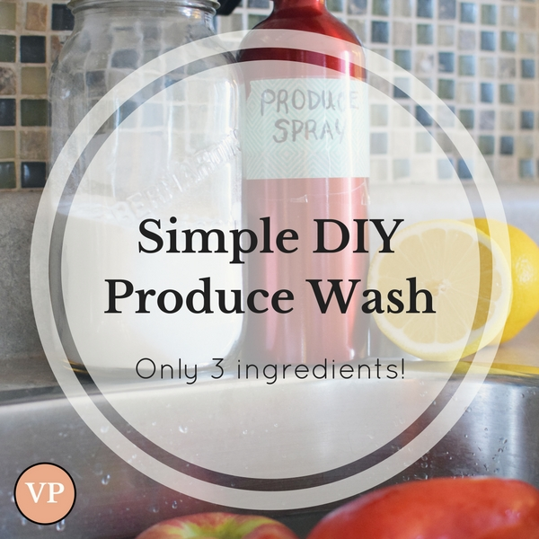 Are you looking to reduce toxic pesticides? This simple 3 ingredient DIY recipe for produce wash has you covered!
