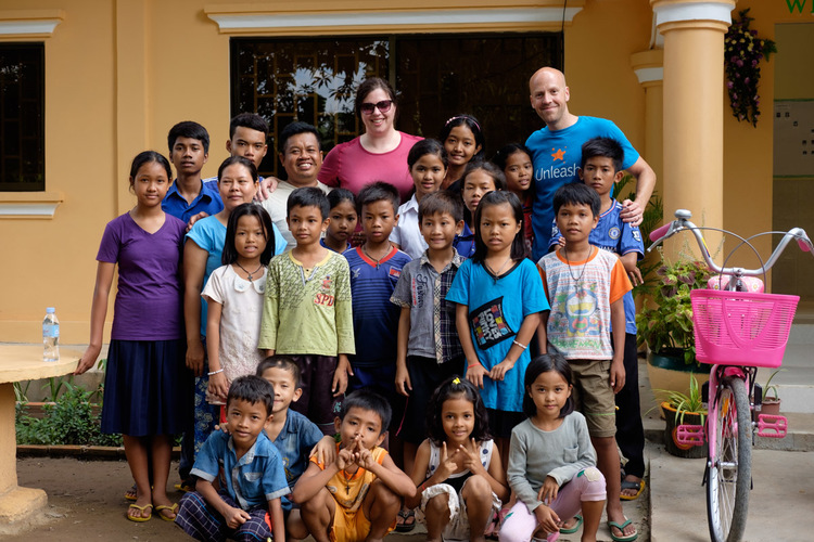 Stacy and Jeremy spend time building relationships with the children and house parents who live as a family in Prek Eng, Cambodia.