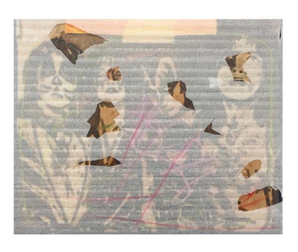 KISS postcard 02   Polyethylene foam, canvas, oil.  16 x20 inches, 2018