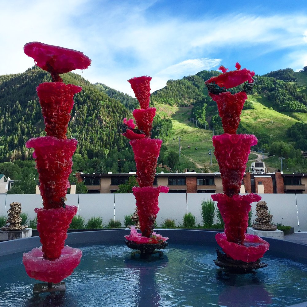 Lynda Benglis installation at the Aspen Art Museum