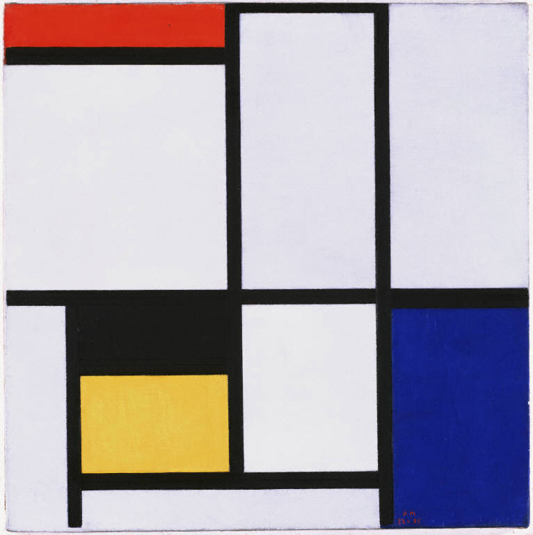 Piet Mondrian,  Composition No. III , 1921, Oil on Canvas, Phillips Collection