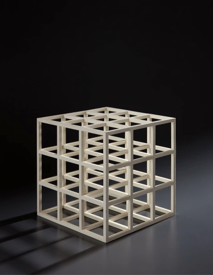 Sol Lewitt's  Cube (1979), baked enamel on steel,was one of the first works sold for an Art Market Liaison client. It ultimately sold at Phillip's for a figure that shattered the pre-sale estimate.