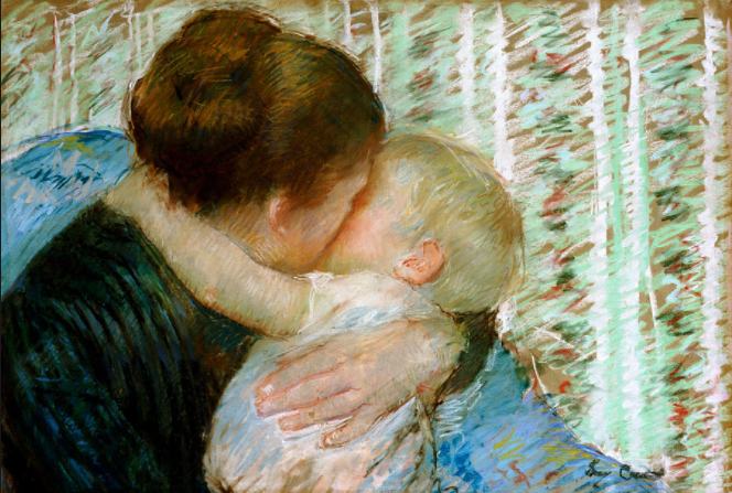 """""""A Goodnight Hug"""" by Impressionist artist Mary Cassatt enjoyed impeccable provenance. Art Market Liaison was able to place the work for sale at Sotheby's and achieved a $4.5 million sale."""