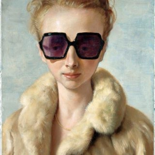 """Because there's a limited supply of John Currin's work on the market, his paintings usually achieve top-dollar. Pictured here: """"Rachel in Fur"""" (2002)."""