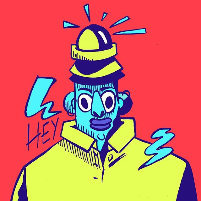 I haven't posted an art thing on the internet in a very long time, so here is an art thing I did today. . . . . . . . . . . . . . . . . #illustration #design #characterdesign #comics #blue #red #yellow #drawing