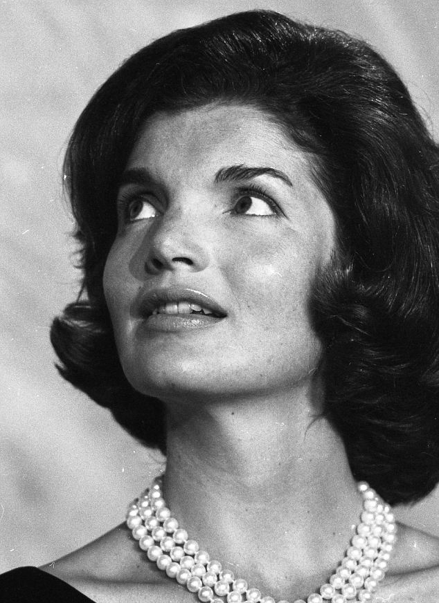 Jackie Kennedy and her famous three strands of pearls