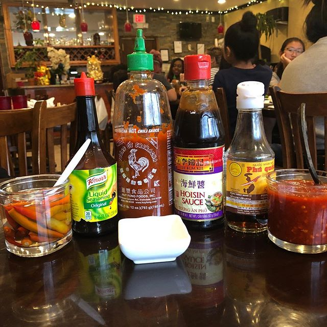What's your #favorite #asian #condiment #fishsauce #hoisin #maggisauce #sambal #chilivinegar #sriracha does it really matter? As long as it involves #noodles and #rice . . . . . #foodography #foodie #foodgasm #foodphoto  #foodpics #foodiegram  #eeeats #eeeeeats  #instagood #eatstagram  #philly #phillyfoodie  #phillyeats #phillyfood  #phillygram #philadelphia  #food #restaurant