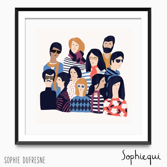 Sophie Dufrese People illustration