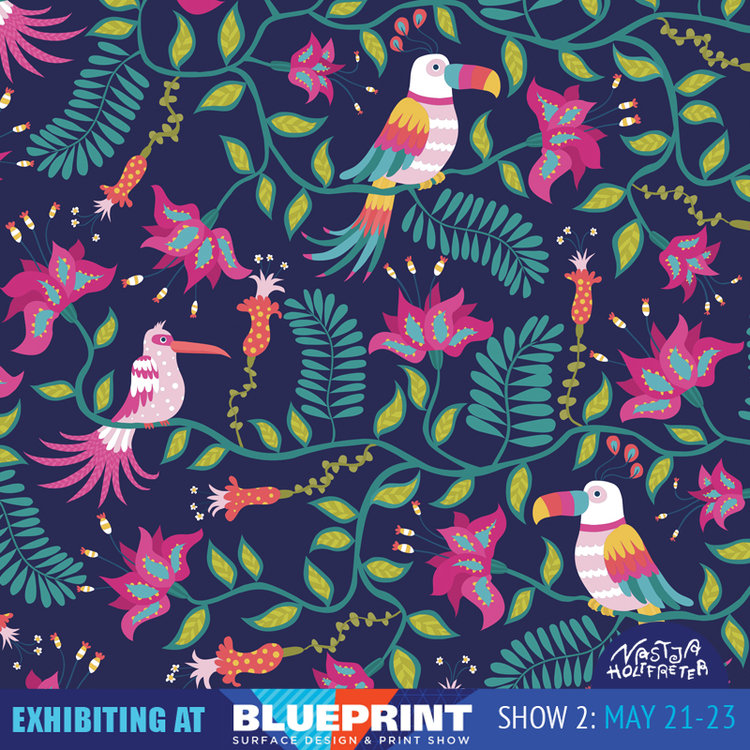 Blueprint preview part 1 surface design print trade show new blueprintinstagramnastjaholtfreterjunglebirdsg malvernweather Gallery