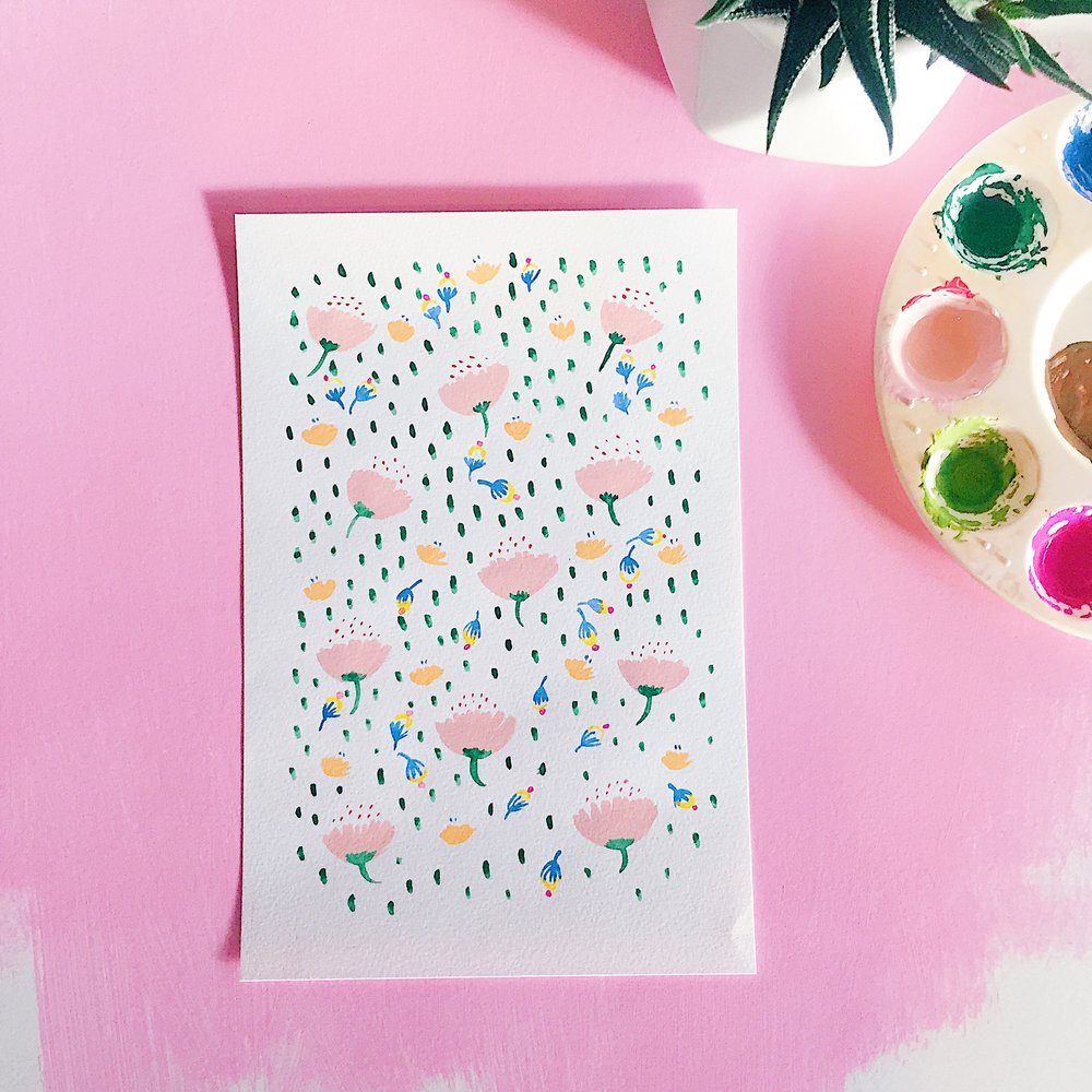 april showers pattern painting.JPG