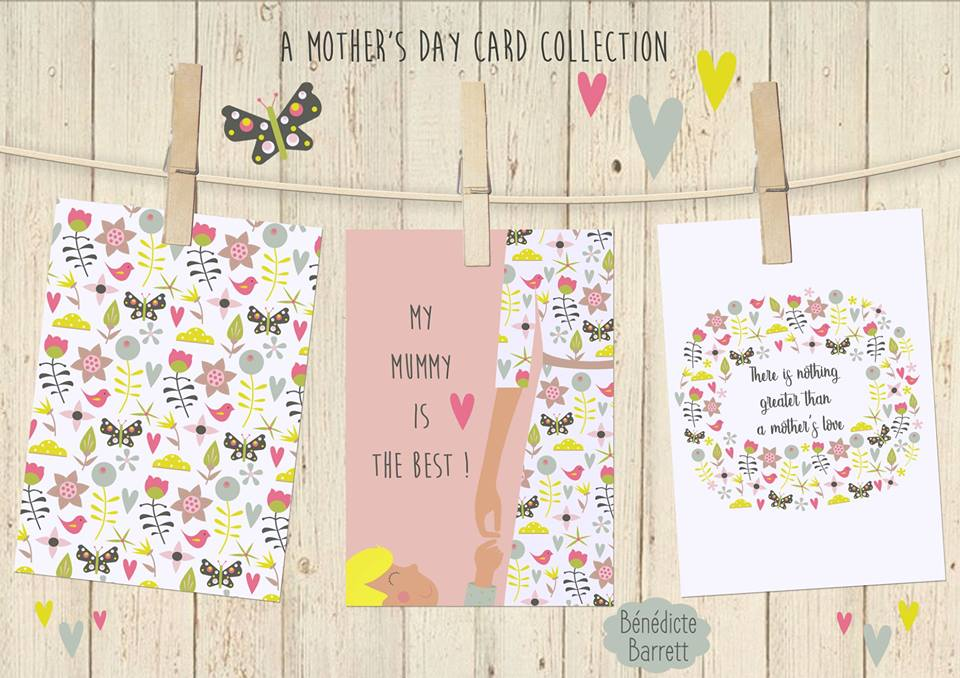 Soft & pretty Mother's Day Card Presentation By  Bénédicte B Barrett