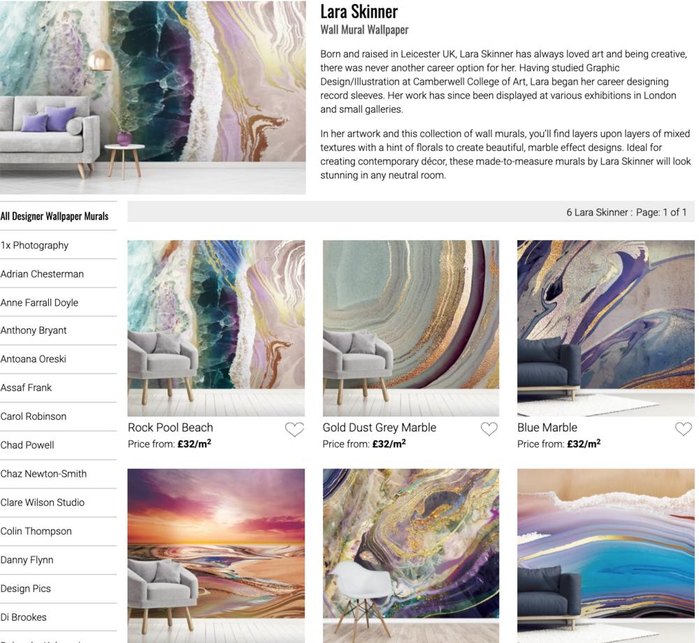 https://www.wallsauce.com/designer-wallpaper-murals/lara-skinner