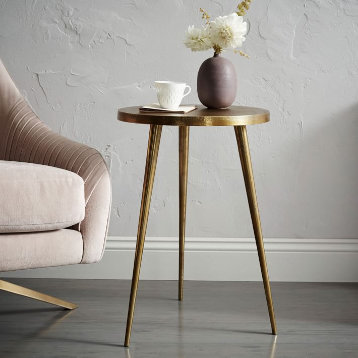 $ 129.00  Cast Tripod Side table