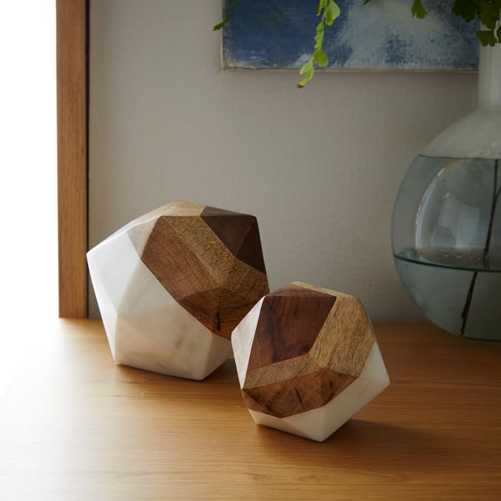 $49.00 Marble +wood Geometric Objects
