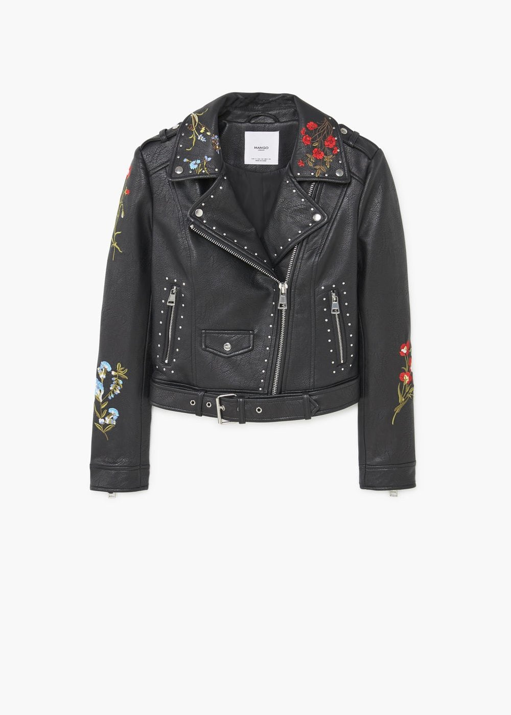 MAngo embroidered stud jacket $99.99