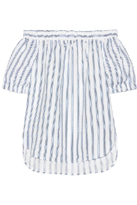 Striped Linen Top $98.00