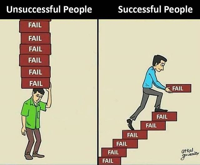Don't let failure weigh you down! Use failure to elevate yourself, NOT devalue yourself. #Repost from @secrets2success #Motivation #Success #Growth