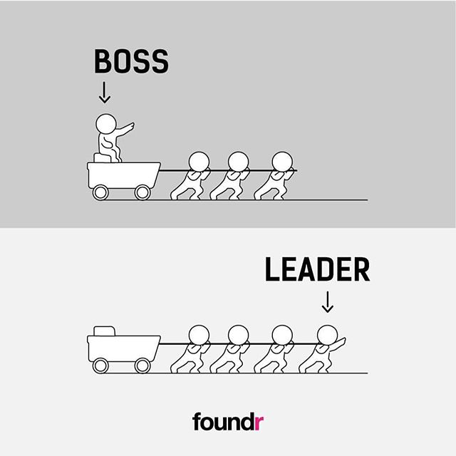 Don't just be a boss, be a leader. #Repost from @foundr #ModelTheWay #Leadership #MotivationMonday
