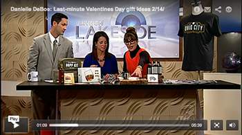 """last minute Valentine's Day gifts"" Live on Lakeside February 2013"