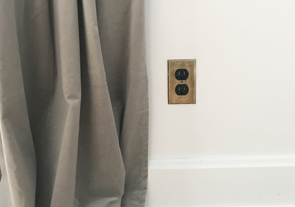 original-brass-outlet-cover
