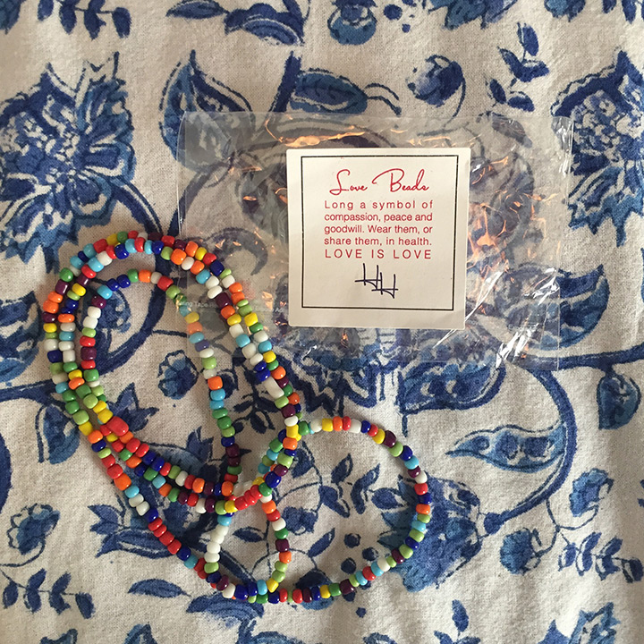 Love this message that came with our love beads at check-in.