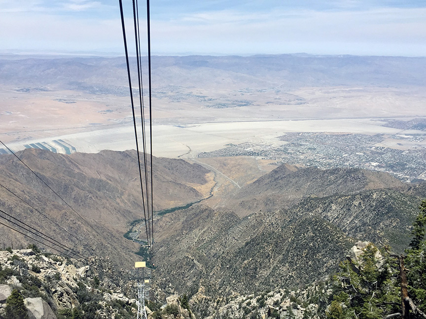 View of the Coachella Valley and the San Andreas Fault from 8,500 feet.