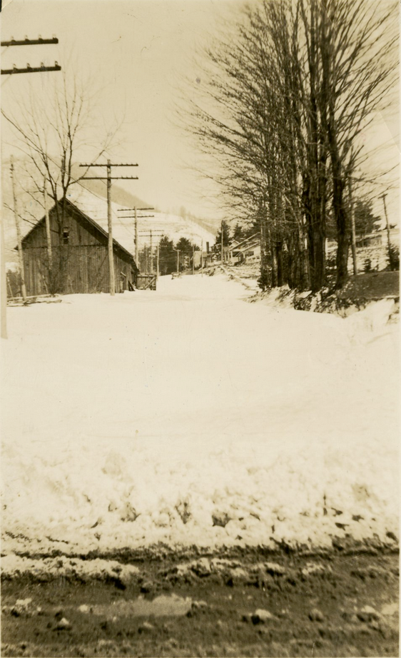From King St. toward Grand Blvd., Old Barn on Miss Mattie Jones's Place, Historic Boone Collection