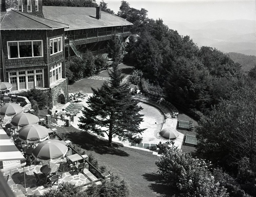 Mayview Manor as it appeared in August 1956. This image was shot by Palmer Blair and is part of the forthcoming Palmer Blair Collection of the Digital Watauga Project.