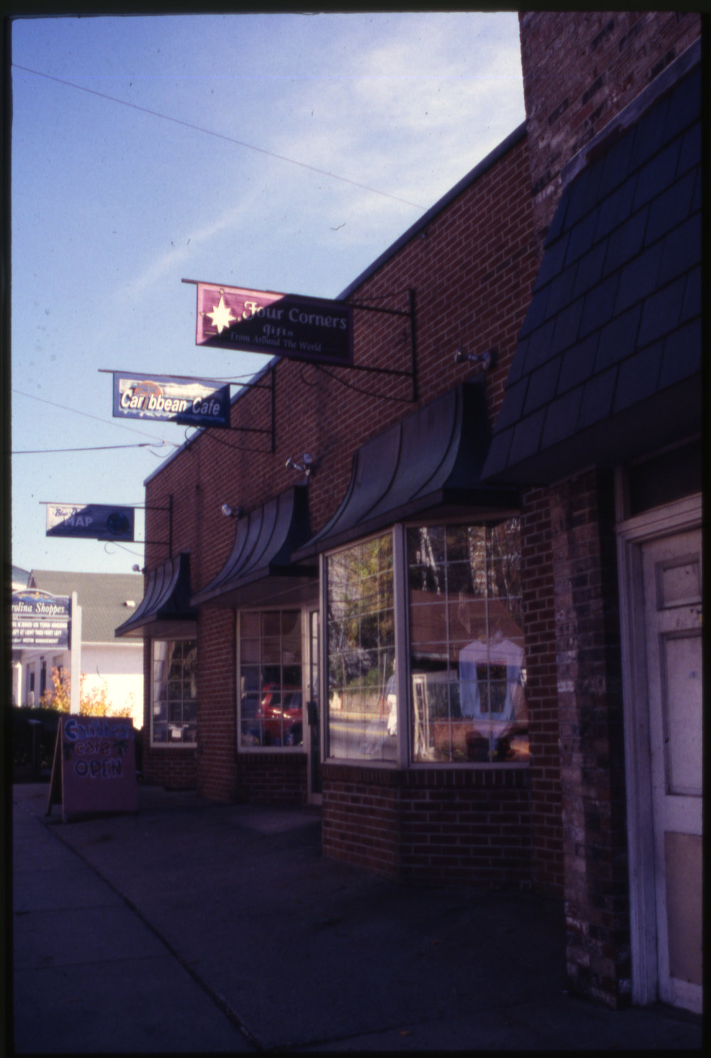 Seen here in the 1990s is the present-day Boone Saloon Building, originally known as the Carolina Pharmacy #2 Building. Image courtesy of the Downtown Boone Development Association Collection (Dow-Boo-1-001), Digital Watauga Project.