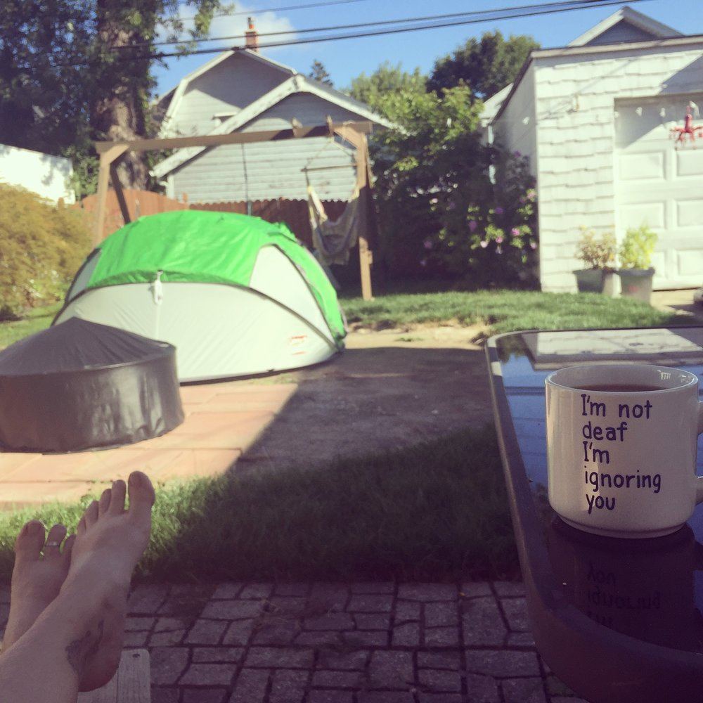 Urban camping. *photo cred: Rachelle Caplan
