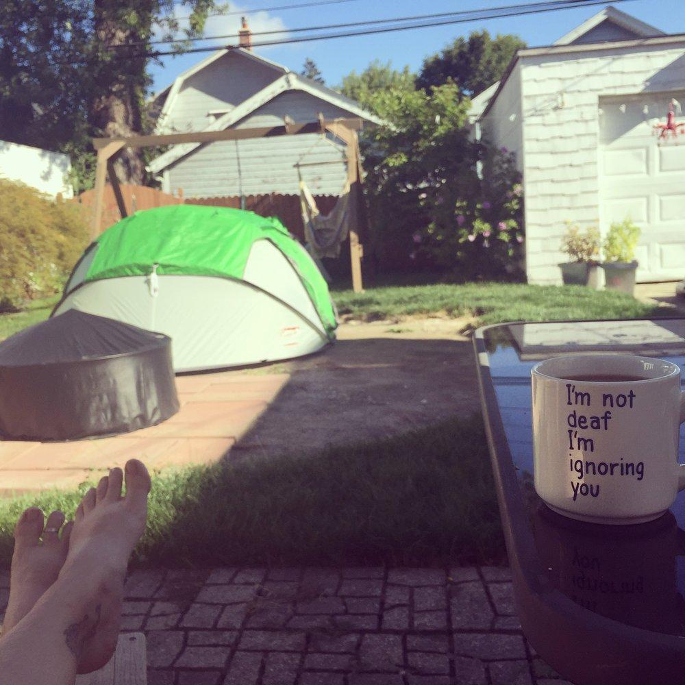 Urban camping. *photo cred: Rachelle Caplan
