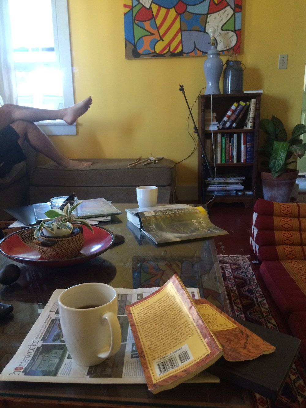 Hot coffee, plants and Ram Narayam records