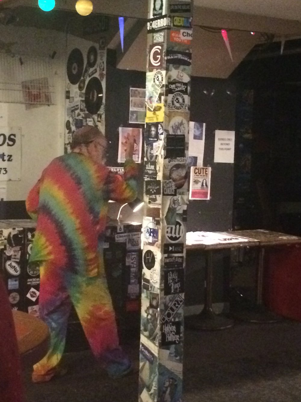 Rainbow man!! Filled with dance moves.