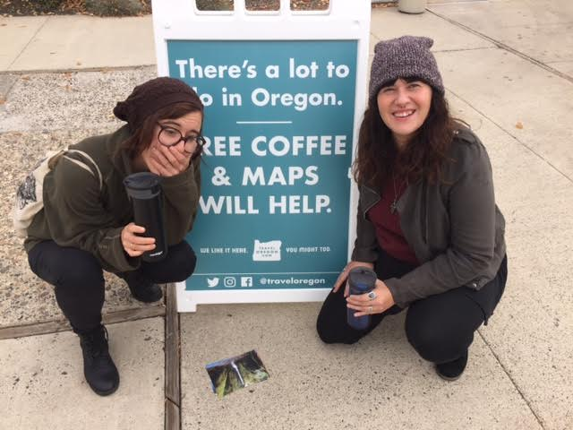 """free coffee and maps will help.."" yes, Oregon, yes they will."