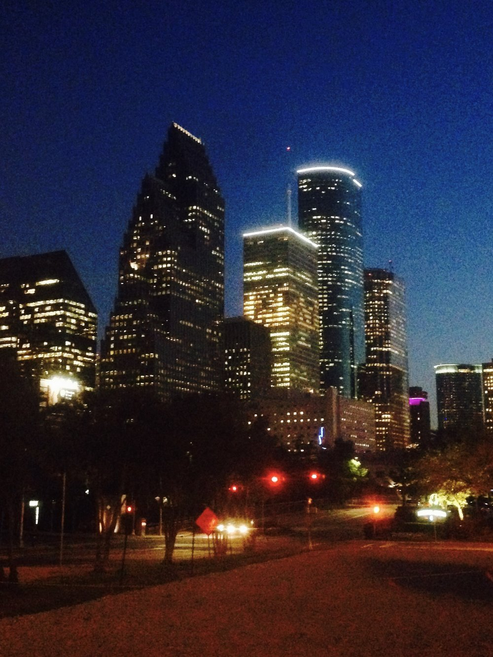 Houston at night.