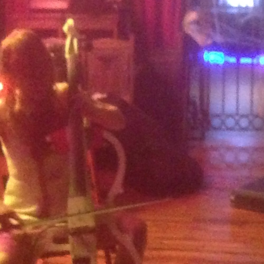 Our friend June broke a string at our Baltimore show and used my cello instead. Her band Hereditary Disappointment was so so heavy and amazing. Also she was dressed up as Carrie covered in fake (?) blood. Love this person.
