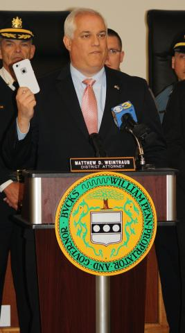 Bucks County District Attorney Matthew D. Weintraub