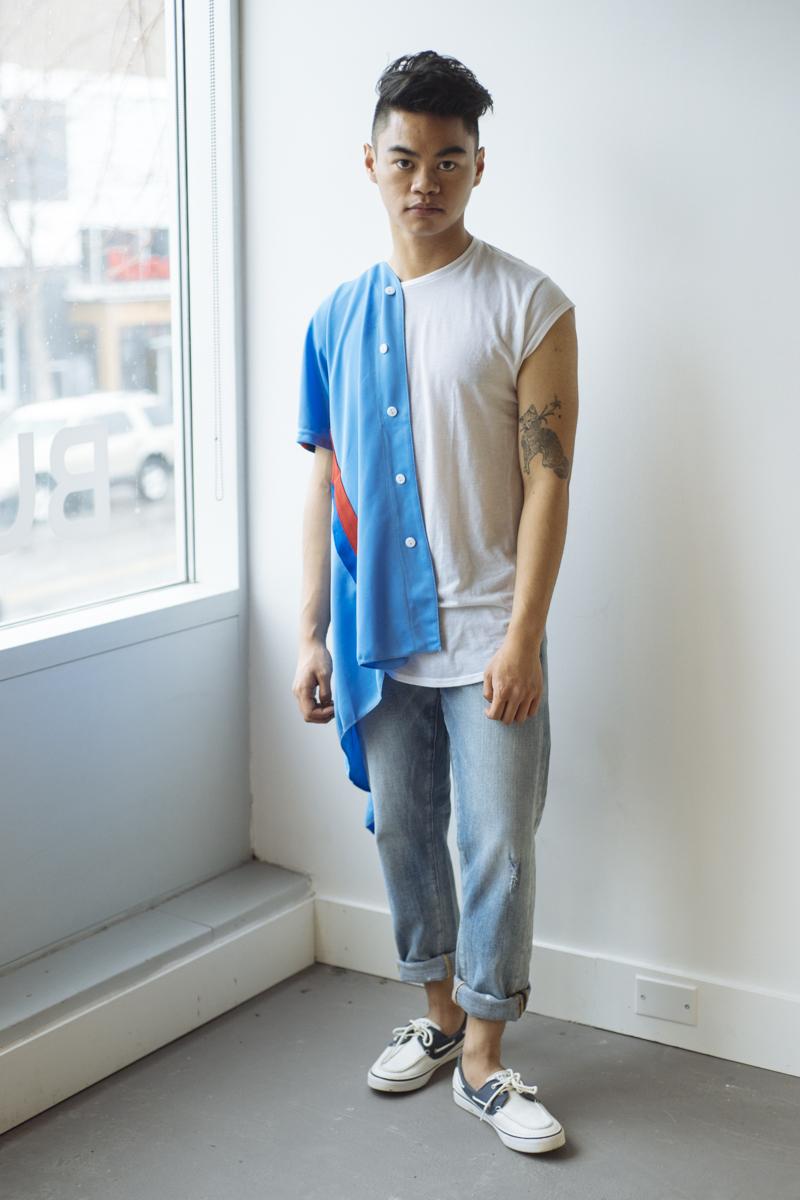 Vintage Blue Bowling Shirt