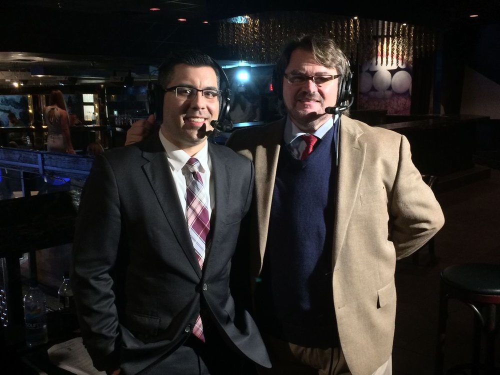 Rich with Tony Schiavone at MLW in Florida. Photo by MilitaryNews.com
