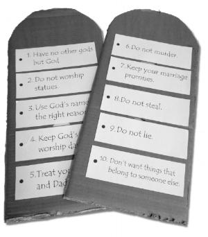 Download a pdf of the Ten Commandments