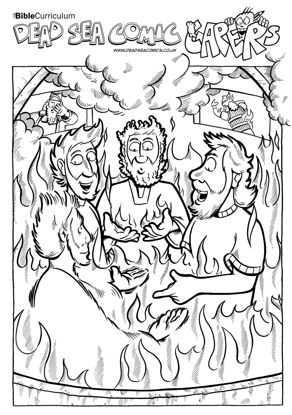 206 and 207_The giant statue and four men in the fire.png