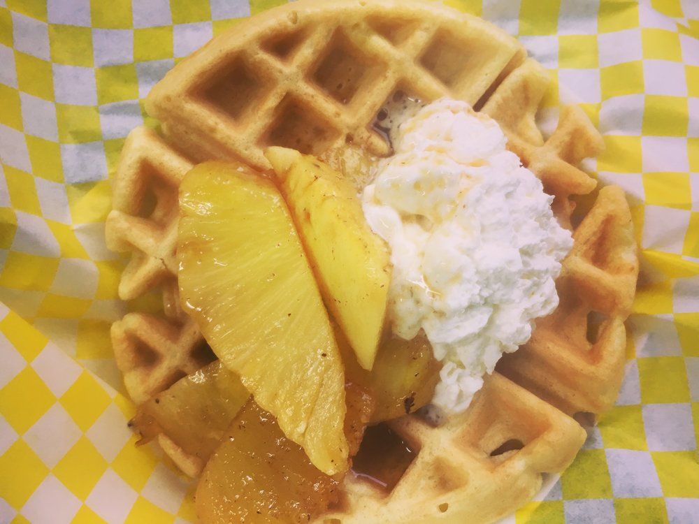 The Betty Waffle with Winter-Spiced Pineapple