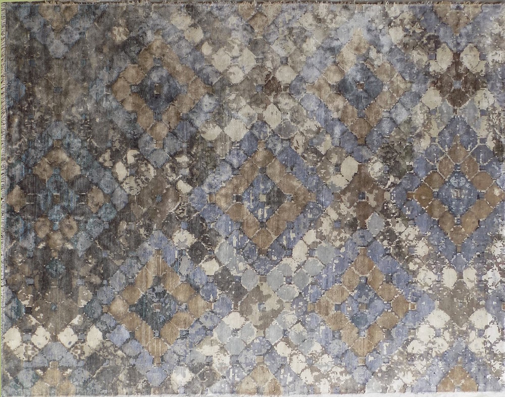 brown gray distressed tiles 9x12 area rug