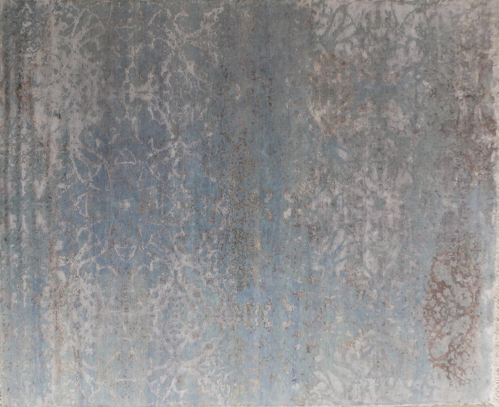 beige gray distressed damask 9x12 area rug