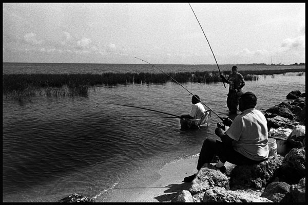 Black and White Photographs, Fisherman, Lake Okeechobee